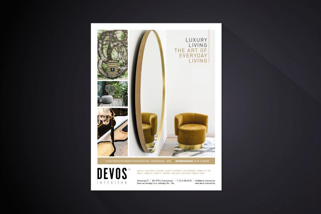 Devos interieurmagazine grafisch ontwerp