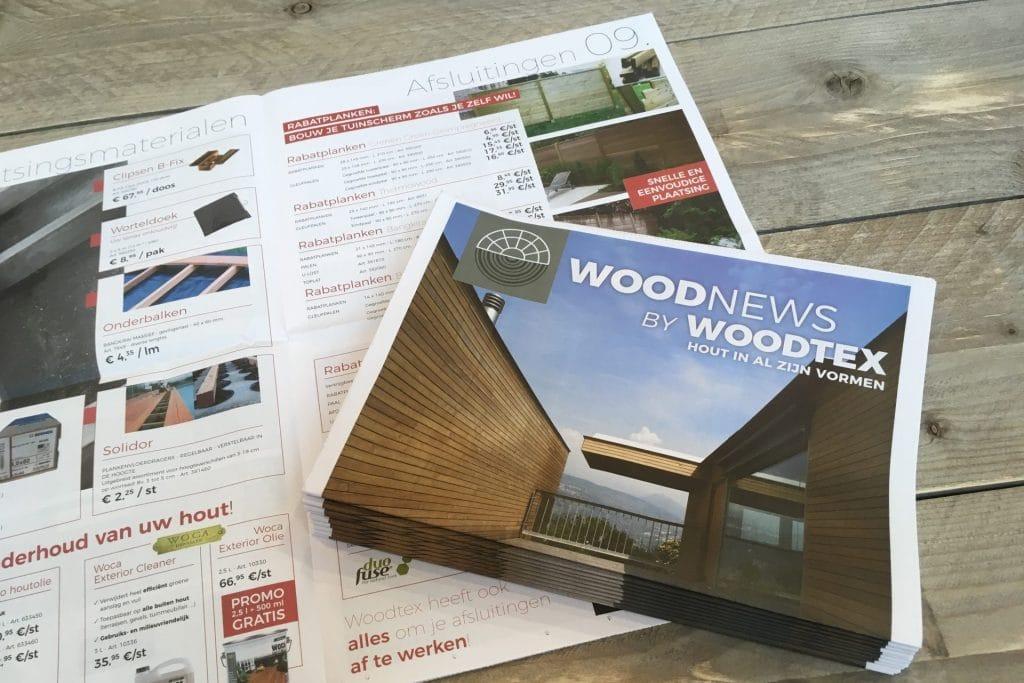 grafisch ontwerp magazine houthandel woodtex